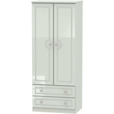 Balmoral High Gloss Kaschmir 2 Door Mirror Wardrobe