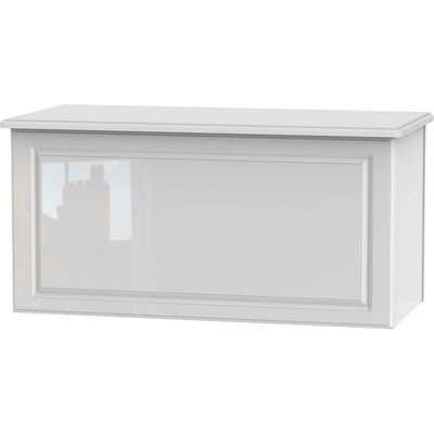 Balmoral White High Gloss Blanket Box