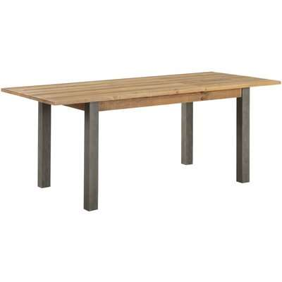 Urban Elegance Reclaimed Wood Extending Dining Table - Baumhaus