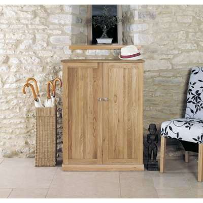 Mobel Oak Shoe Cupboard - Large - Baumhaus