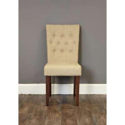 Shiro Walnut Upholstered Dining Chair - Flare Back Slate - Baumhaus