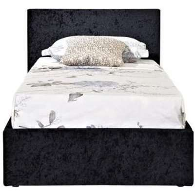 Birlea Berlin Ottoman Black Crushed Velvet Fabric Bed