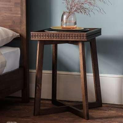 Gallery Boho Retreat Chocolate Bedside Table
