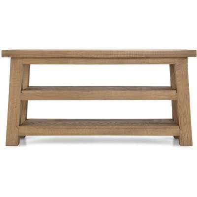 Bourg Oak Shoe Bench