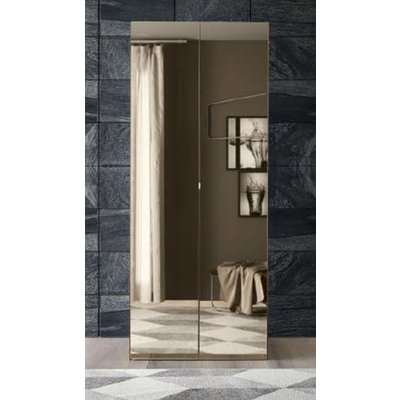Camel Akademy Italian Wooden 5 Door Wardrobe with Mirror