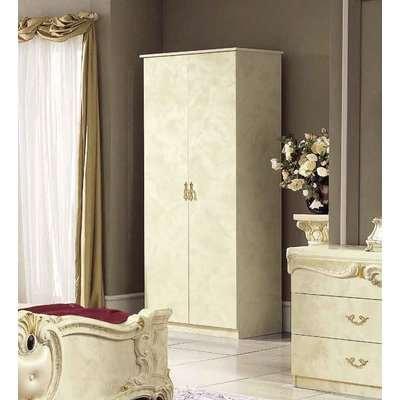 Camel Barocco Ivory Italian 4 Door Wardrobe