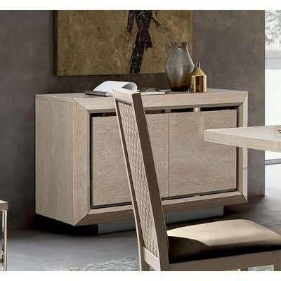 Camel Elite Day Sand Birch Italian Buffet Sideboard