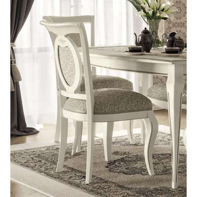 Camel Fantasia Day Antique White Italian Dining Chair (Pair)