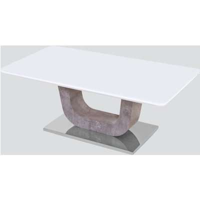 Castello Coffee Table - White High Gloss and Natural