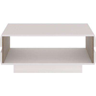 Chelsea Designer Coffee Table - Truffle Oak and High Gloss White