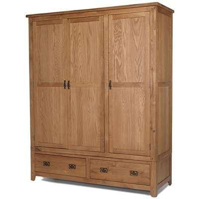 Cherington Oak Single Wardrobe