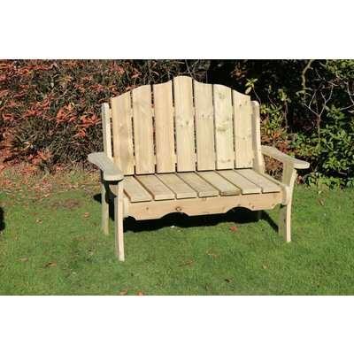 Churnet Valley Alton Manor Wooden 2 Seater Garden Bench