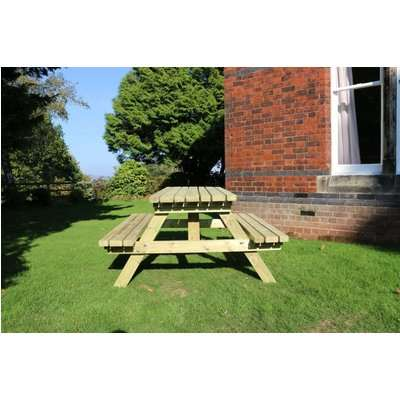 Deluxe A Frame Picnic Table Set with 2 Benches - Churnet Valley