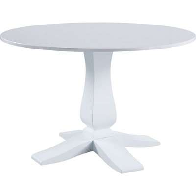 Classic Compton Marble Top Round Pedestal Dining Table