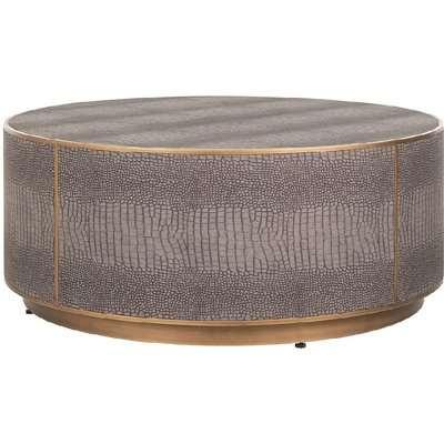 Classio Vegan Leather Round Coffee Table