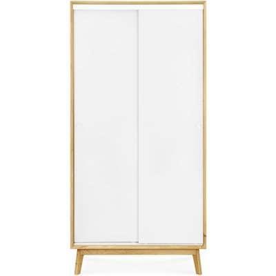 Clemence Richard Modena Solid Oak 1 Door Single Wardrobe - 230