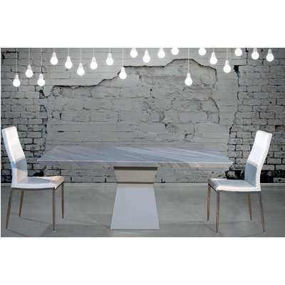 Clepsy Plus Marble Dining Table - Polished Steel - Stone International