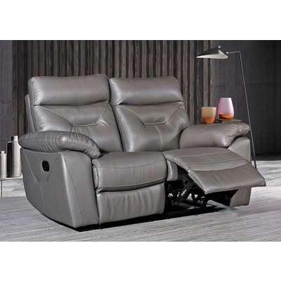 Como Grey 2 Seater Recliner Sofa