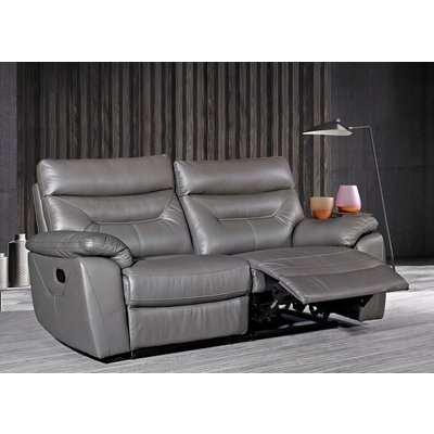 Como Grey 3 Seater Recliner Sofa