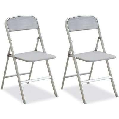 Connubia Alu Aluminium Folding Dining Chair with Flat Hook (Pair)