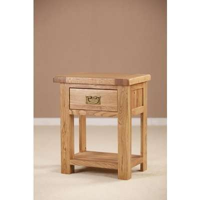 Country Oak Bedside Table - 1 Drawer