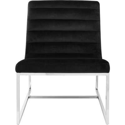 Envi Black Velvet Curved Cocktail Chair