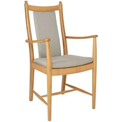 Ercol Penn Oak Padded Back Dining Armchair