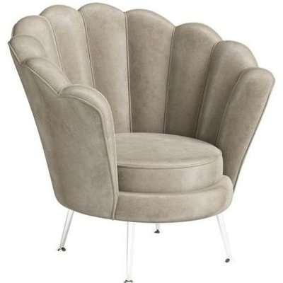 Erica Mink Velvet and Chrome Lounge Chair