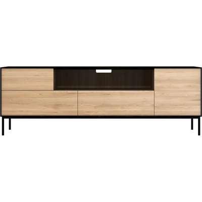 Ethnicraft Oak Blackbird 2 Door 2 Drawer TV Cupboard