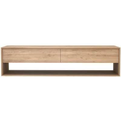 Ethnicraft Oak Nordic 1 Door 1 Drawer Large TV Cupboard