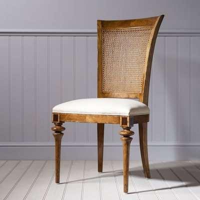Frank Hudson Spire Cane Back Dining Chair - Walnut