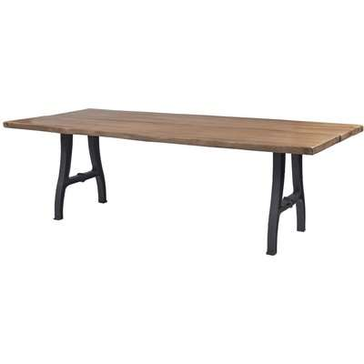 Frisco Reclaimed Wood Lucie Planked Raw Edge 220cm Dining Table