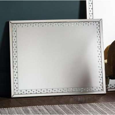 Gallery Direct Eastmoore Rectangular Leaner Mirror - Silver 60cm x 135cm