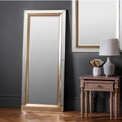 Gallery Direct Phantom Metallic Leaner Mirror