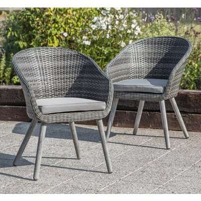 Gallery Geneva Grey Washed Outdoor Chair (Pair)