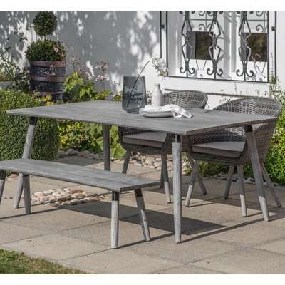 Gallery Geneva Grey Washed Outdoor Dining Table