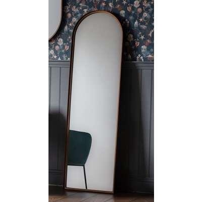 Gallery Greystoke Bronze Arch Leaner Mirror