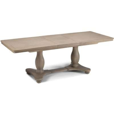Georgina Grey Washed Oak Double Pedestal Extending Dining Table