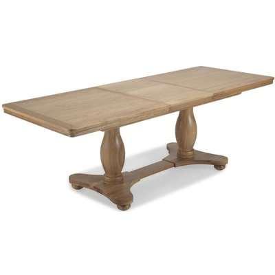 Georgina Natural Oak Double Pedestal Rectangular Extending Dining Table