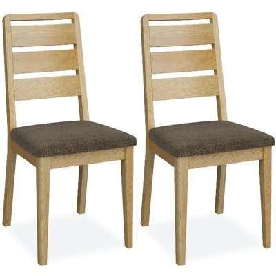 Global Home Bath Oak Ladder Back Dining Chair (Pair)