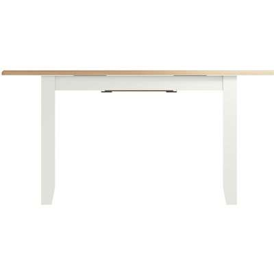 Graceton Oak and White Painted 160cm-200cm Extending Dining Table