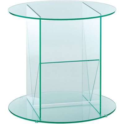Greenapple Pure Glass Round Table and Magazine Rack 59565