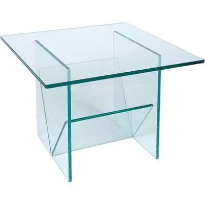 Greenapple Pure Glass Square Table and Magazine Rack 59566