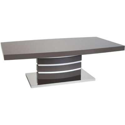 Greenapple Rimini Coffee Table - Glass and Grey High Gloss