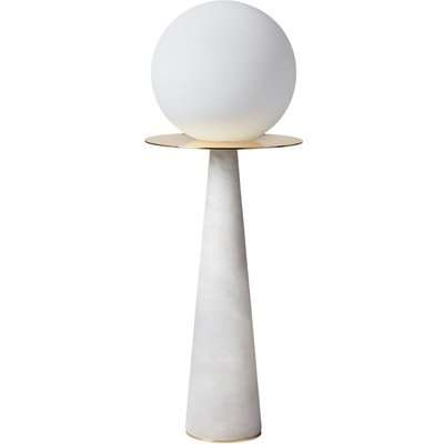 Heathfield Halo Alabaster Glass Table Lamp
