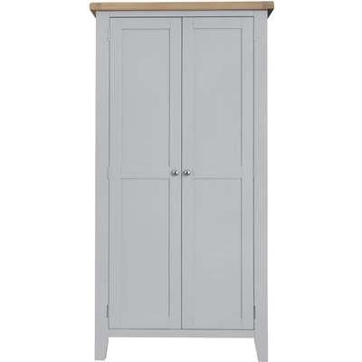 Hampstead Millstone Grey Painted 1 Door Single Wardrobe