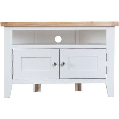 Hampstead Oak and White Painted Blanket Box
