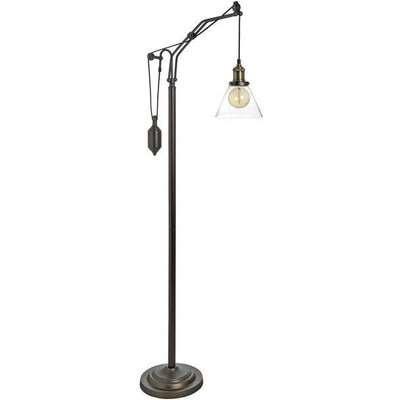 Hill Interiors Hudson Adjustable Industrial Floor Lamp