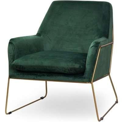 Hill Interiors Kariss Framed Emerald Green Velvet Club Chair