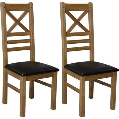 Homestyle Deluxe Oak Cross Back Dining Chair